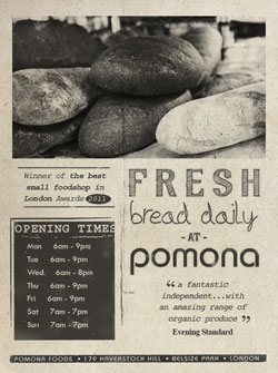 fresh bread daily at pomona foods belsize park